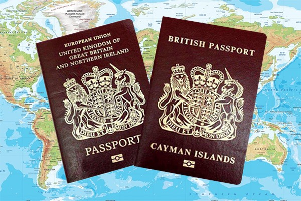 Cayman Islands and United Kingdom Passports Applications